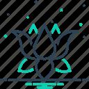 harmony, lotus, meditation, nelumbo, nenuphar, nymphaea, water lily icon