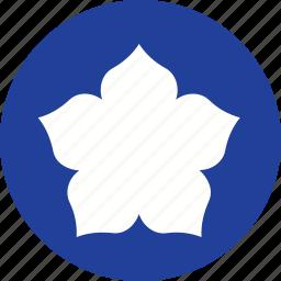 bloom, decoration, floral, flower, retro, shape, sign icon