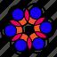 abstract, circle, design, flower, garden, nature, shape icon
