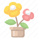 flower, flowers, potted plants icon