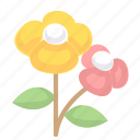 flower, flowers, leafs icon