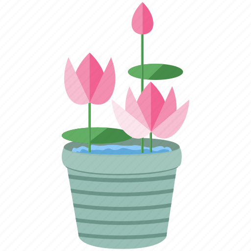 flower, flowers, garden, gardening, leaf, lotus, spring icon