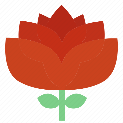 floral, flowers, garden, garden flowers, garden plants, plants, red flower icon