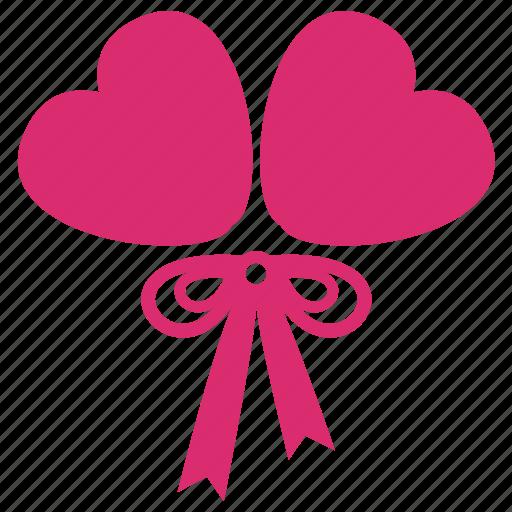 balloon, heart, love, ornament, party, valentine, wedding icon