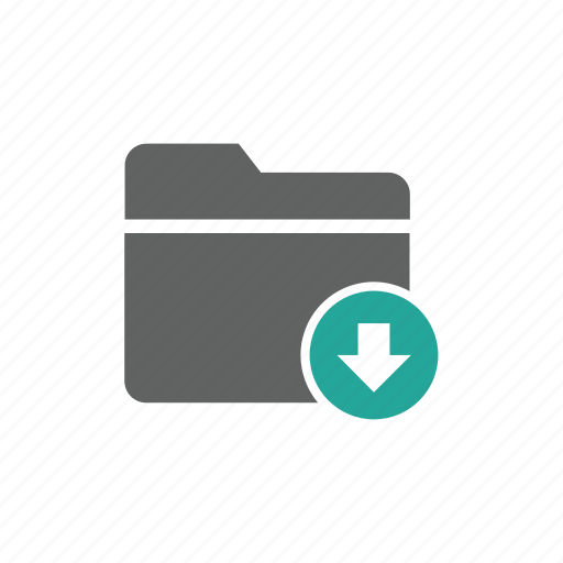 arrow, document, down, download, file, folder icon