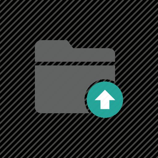 arrow, document, file, folder, up, upload icon
