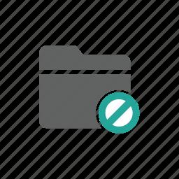 document, error, file, folder, prohibit, warning icon