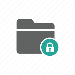 document, file, folder, lock, password, security icon