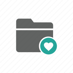 document, favorite, file, folder, heart, important, tag icon