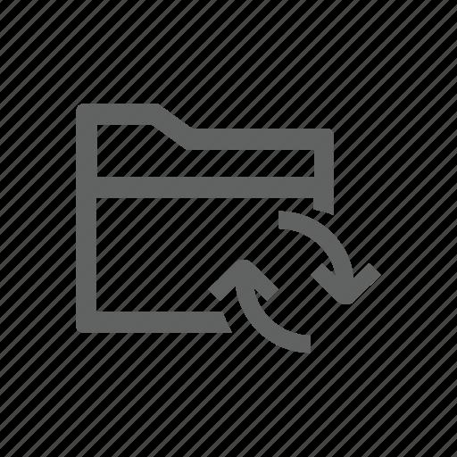 folder, sync, synchronize, update icon