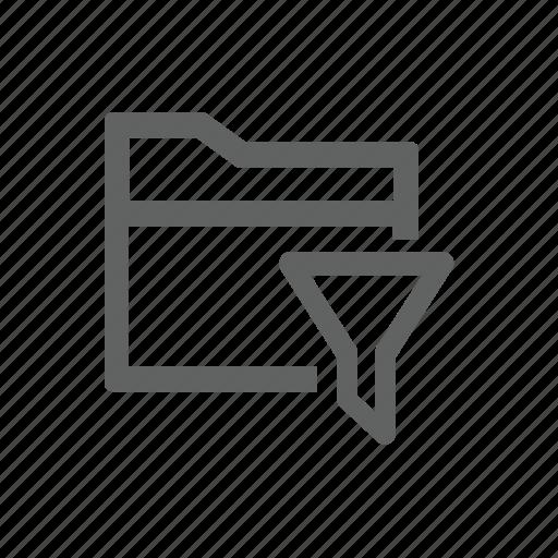 filter, folder, funnel icon