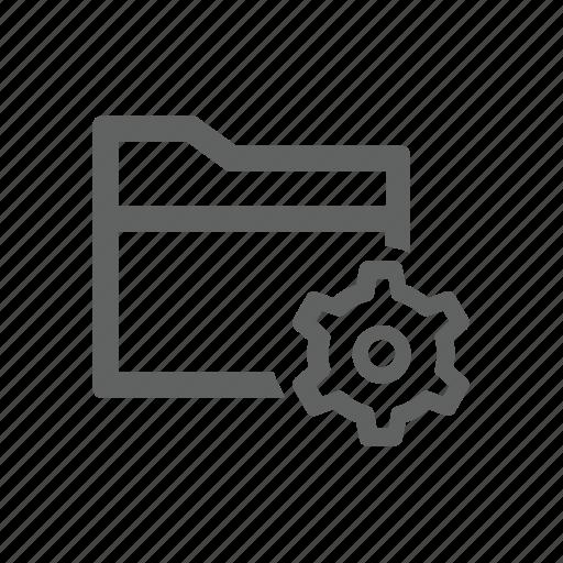 folder, gear, options, setting icon