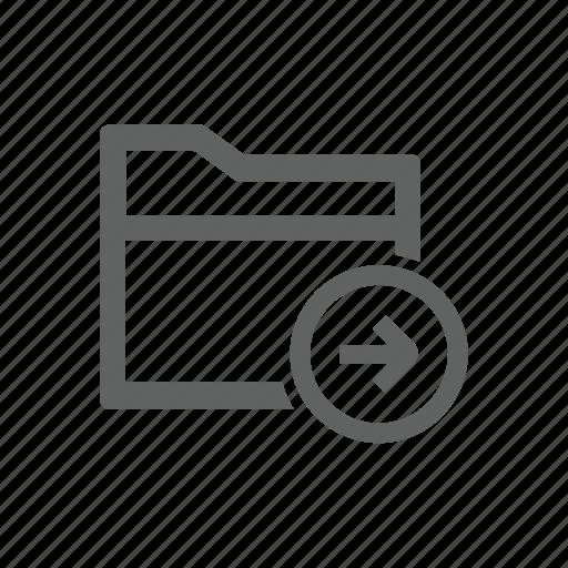 arrow, folder, forward, right icon