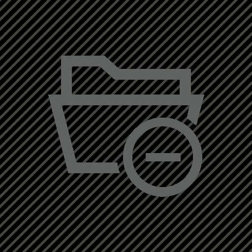 delete, directory, folder, minus, remove icon