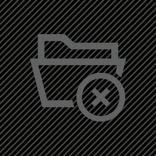 cross, delete, directory, folder, remove icon