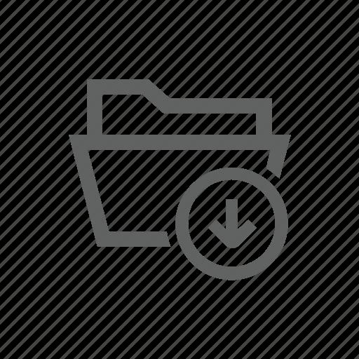 arrow, directory, down, download, folder icon