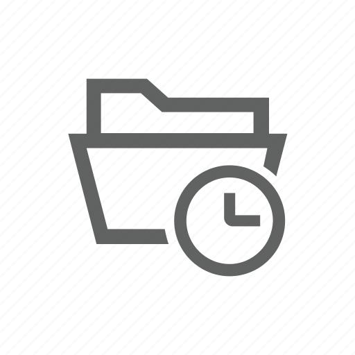 clock, delay, directory, folder, later icon