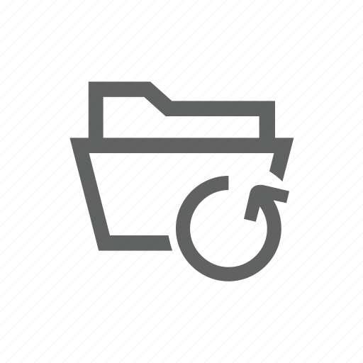 arrow, directory, folder, sync, synchronize, update icon