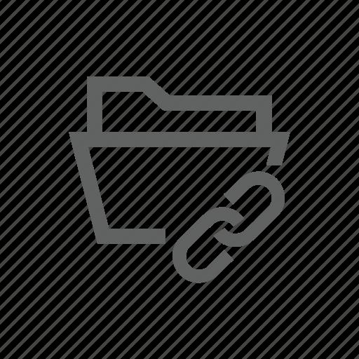attach, attachment, clip, directory, folder, link, paper clip icon
