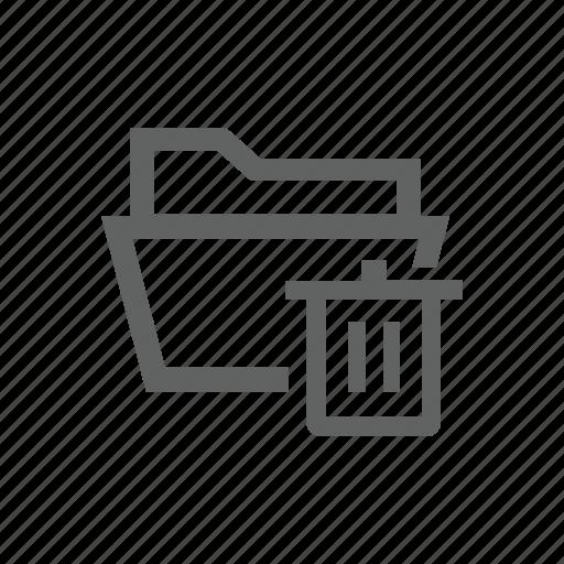 delete, directory, folder, remove, trash, trash bin icon