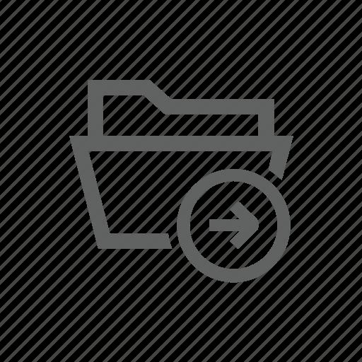 arrow, directory, folder, forward, right icon