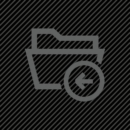 arrow, back, backward, directory, folder, left icon
