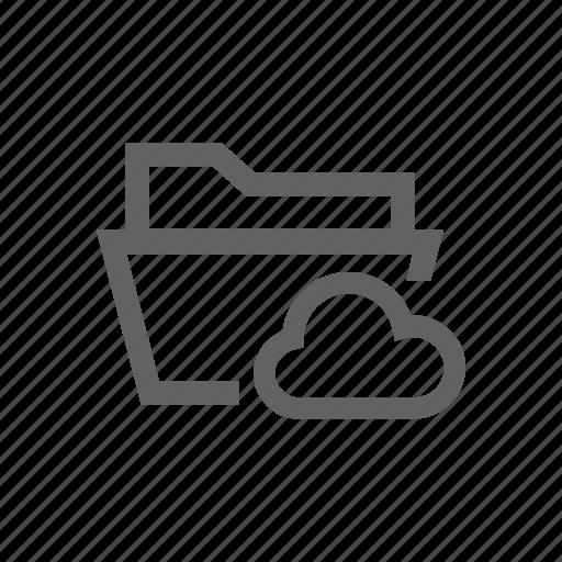 cloud, directory, folder, internet, network, sync icon