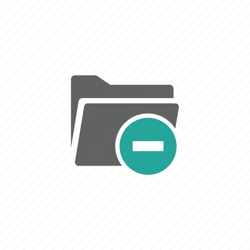 Delete, directory, file, folder, minus, remove icon - Download on Iconfinder