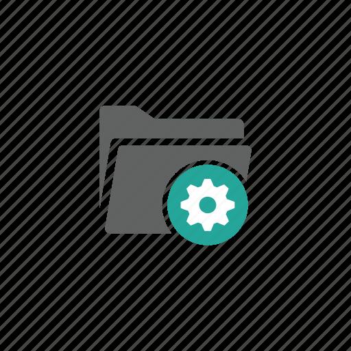 directory, file, folder, gear, options, setting icon