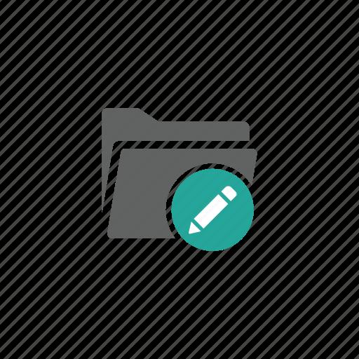 Directory, edit, file, folder, pen, pencil icon - Download on Iconfinder