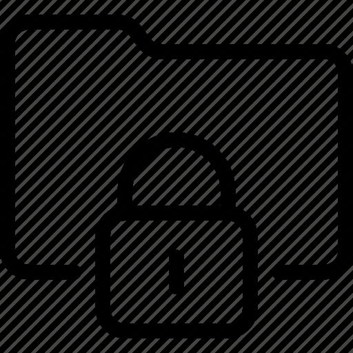 folder, locked, password icon