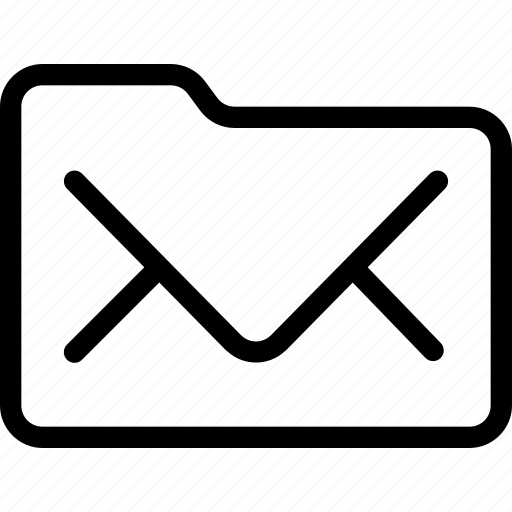 email, folder, mail icon
