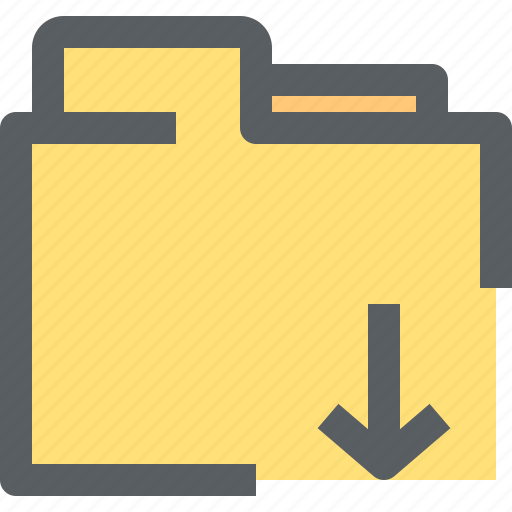 archive, binder, business, document, download, folder, office icon