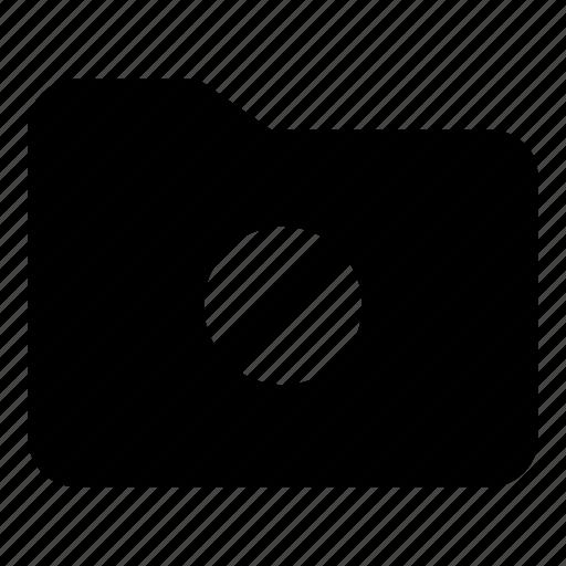 block, folder, forbidden, office icon