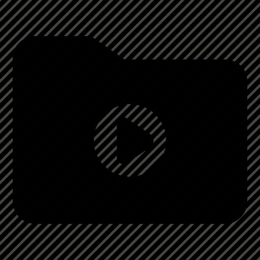 folder, media, movie, office, play, video icon