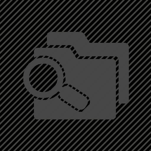 find, folder, search icon