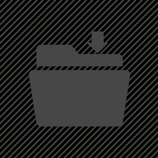 download, fill, folder icon