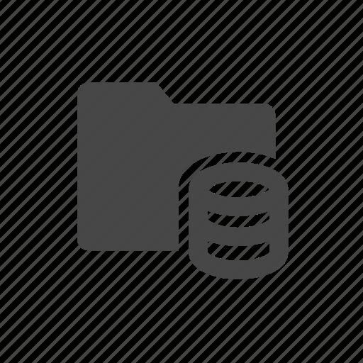 data, database, folder, ftp, hosting icon