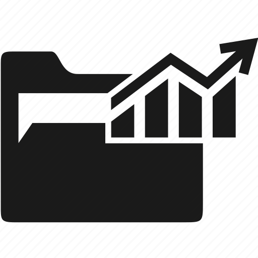 chart, data, document, folder, office icon