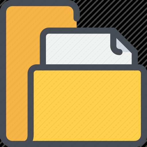 archive, data, file, folder, paper icon