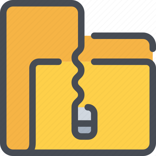 archive, business, file, folder, management, zip icon