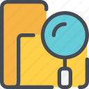 archive, file, folder, research, search, seo icon