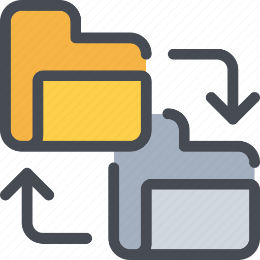 archive, arrow, exchange, file, folder, sharing icon