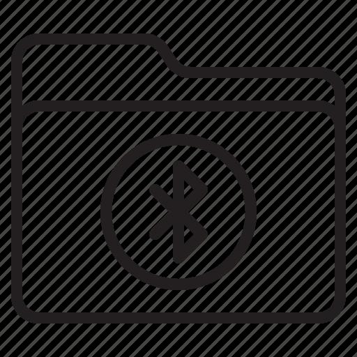 bluetooth, document, file, folder icon