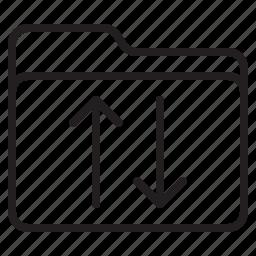 document, file, folder, sign icon