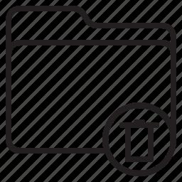 bin, document, file, folder icon