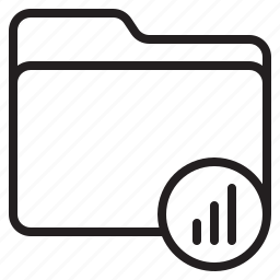 document, file, folder, graph icon