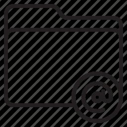 document, file, folder, mail icon
