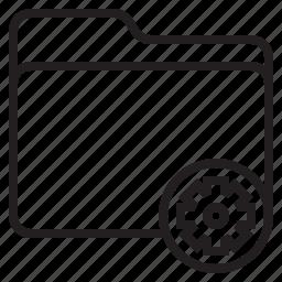 document, file, folder, setting icon