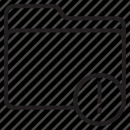 document, file, folder, warning icon